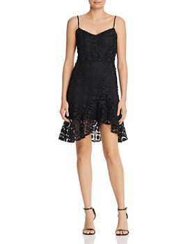 Olivaceous - Flounced Lace Dress