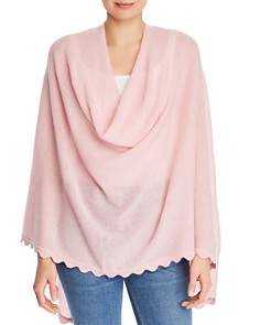 Minnie Rose - Scalloped Cashmere Poncho