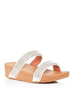 FitFlop - Women's Lottie Crystalstone Platform Slide Sandals