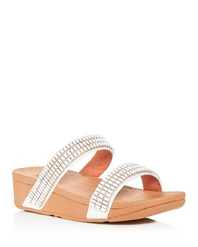 FitFlop - Women's Lottie Crystalstone Platform Slide Sandals