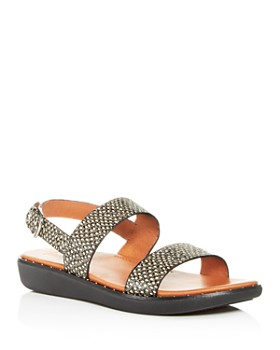 FitFlop - Women's Barra Slingback Snake-Embossed Sandals