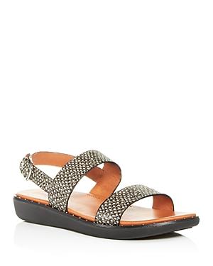 Fitflop Sandals FITFLOP WOMEN'S BARRA SLINGBACK SNAKE-EMBOSSED SANDALS