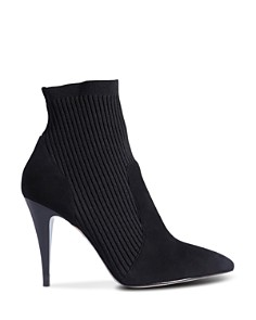 KAREN MILLEN - Women's High-Heel Knitted Sock Boots