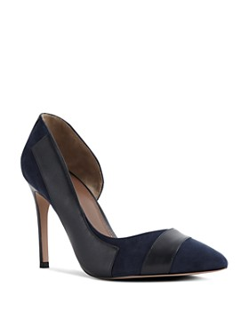 fc6c3115529 REISS - Women s Augusta Leather   Suede d Orsay Pumps ...