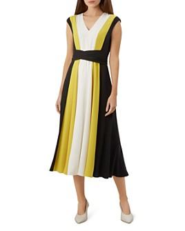 HOBBS LONDON - Bailly Color-Block V-Neck Dress