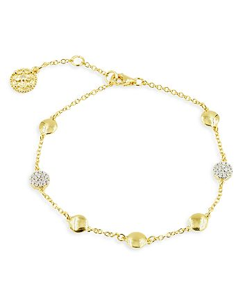 Freida Rothman - Radiance Station Bracelet in 14K Gold-Plated & Rhodium-Plated Sterling Silver