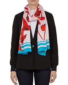 Ted Baker - Caycee Fantasia Floral Silk Scarf