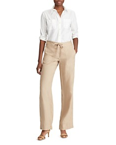 Ralph Lauren - Linen Wide-Leg Pants