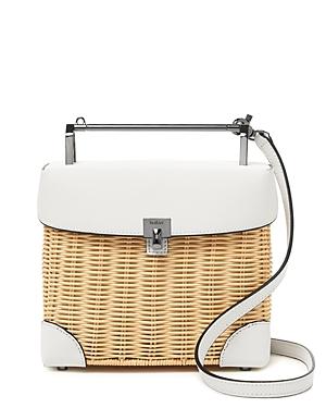 Botkier Lennox Lunchbox Wicker Crossbody-Handbags