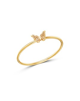Zoë Chicco - 14K Yellow Gold Itty Bitty Butterfly Ring