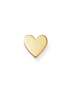 Zoe Chicco 14K Yellow Gold Single Itty Bitty Heart Stud Earring