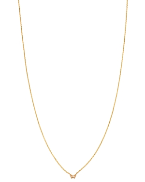 Zoe Chicco 14K Yellow Gold Itty Bitty Butterfly Charm Necklace, 16