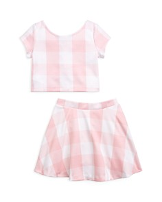 Ralph Lauren - Girls' Gingham Top & Skirt Set - Little Kid