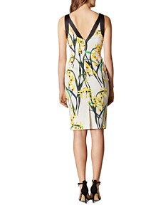 KAREN MILLEN - Strappy Floral Sheath Dress
