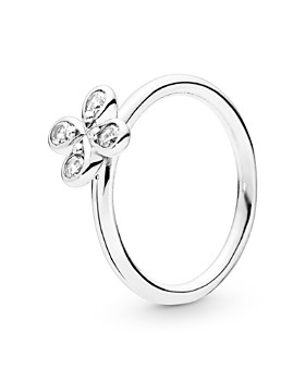 f5d48b326 Pandora - Sterling Silver & Cubic Zirconia Flower Ring ...