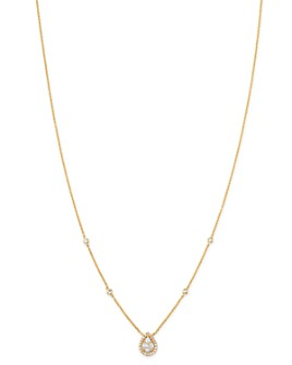 "Madhuri Parson - 14K Yellow Gold Diamond Essentials Mango Diamond Pendant Necklace, 17.5"""
