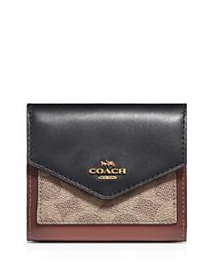 COACH - Small Signature Coated Canvas Color-Block Wallet