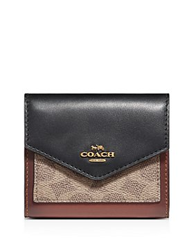 COACH - Small Signature Coated Canvas Color-Block Wallet