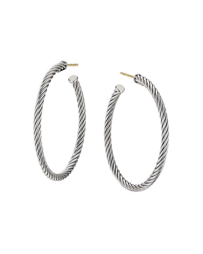 David Yurman - Medium Cable Hoop Earrings