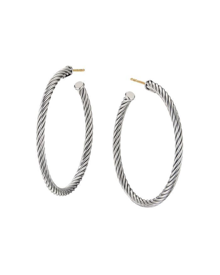 David Yurman Medium Cable Hoop Earrings    Bloomingdale's