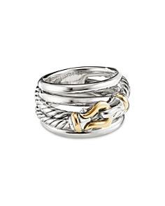 David Yurman - Sterling Silver & 18K Yellow Gold Buckle Ring