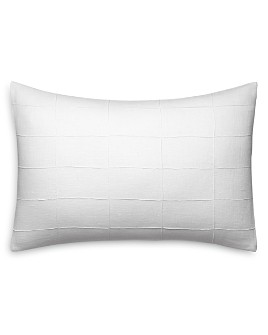 "Vera Wang - Linear Tucks Decorative Pillow, 15"" x 22"""