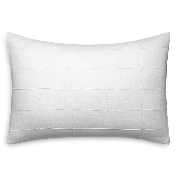 """Vera Wang - Linear Tucks Decorative Pillow, 15"""" x 22"""""""