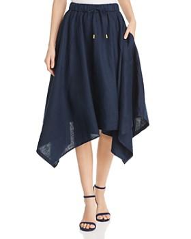 DKNY - Linen Handkerchief-Hem Skirt