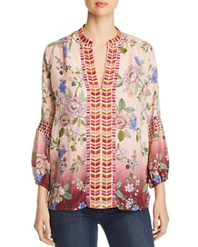 61ae448bf19a88 Johnny Was - Paris Floral-Print Linen Top ...