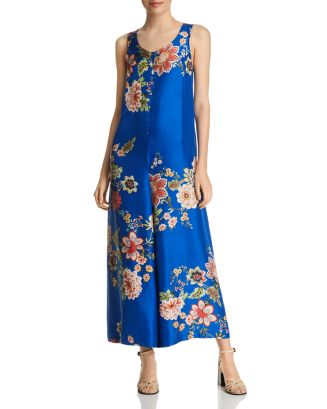 Vivian Sleeveless Floral Print Silk Jumpsuit by Johnny Was