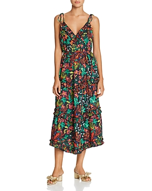 Escada Sport Dresses DAFLORY SLEEVELESS FLORAL-PRINT MIDI DRESS