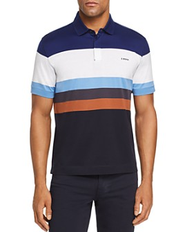 Z Zegna - Block Stripe Short-Sleeve Regular Fit Polo Shirt
