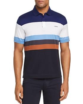 Z Zegna - Block Stripe Short-Sleeve Regular Fit Polo Shirt