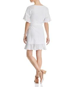 AQUA - Eyelet Wrap Dress - 100% Exclusive