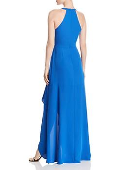 BCBGMAXAZRIA - Faux-Wrap Gown