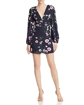 Keepsake - Darkness Floral Mini Dress