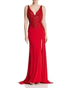 Mac Duggal - Embellished Jersey Gown