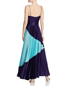 Jill Jill Stuart - Pleated Color-Block Gown