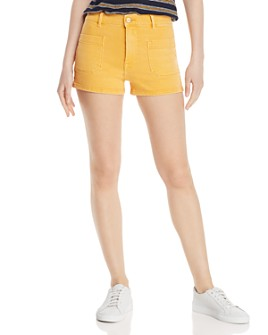FRAME - Le Bardot Denim Shorts in Marigold