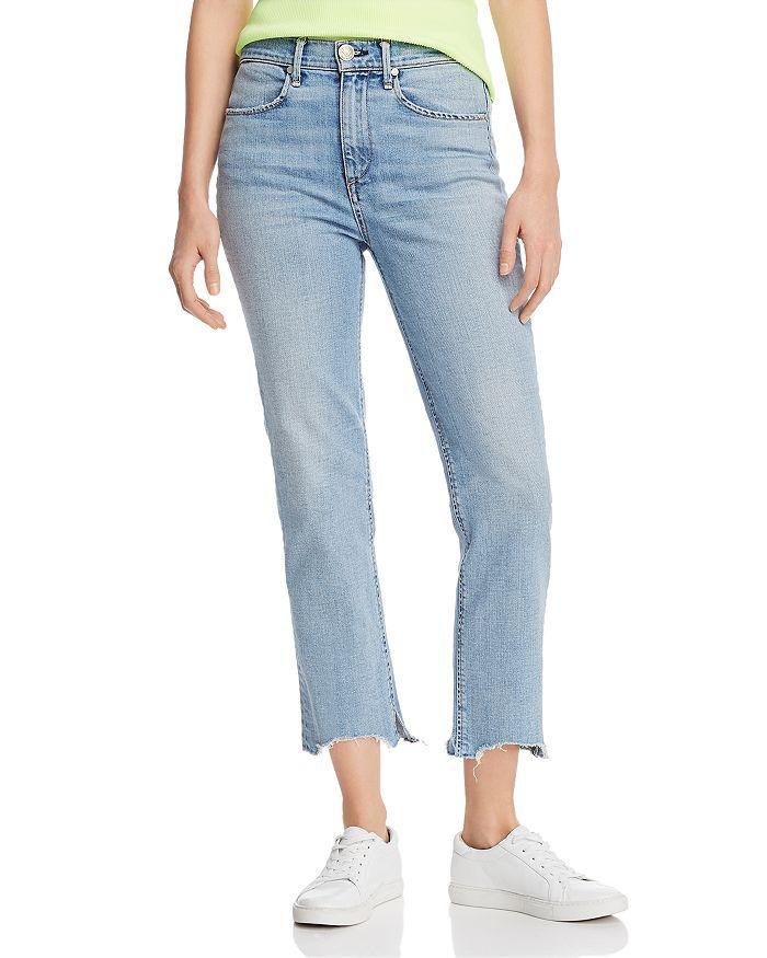 rag & bone - Nina High-Rise Ankle Cigarette Jeans in Lapis