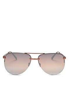 Quay - Women's QUAY x JLO The Playa Mirrored Aviator Sunglasses, 54mm