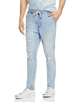Zee Gee Why Denim - Cruiser Skinny Fit Jogger Jeans in Blue Shatter