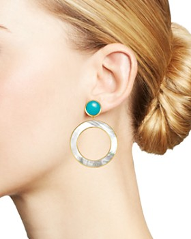IPPOLITA - 18K Yellow Gold Polished Rock Candy Turquoise & Mother-of-Pearl Drop Earrings