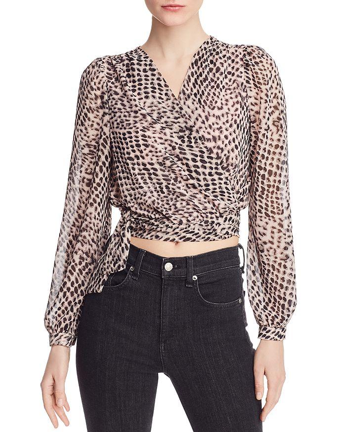 Lucy Paris - Teala Leopard-Print Wrap Top - 100% Exclusive