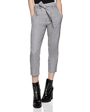 Bcbgeneration Pants TIE-WAIST STRIPED CROPPED PANTS