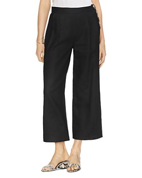 VINCE CAMUTO - Pleated Cropped Linen Pants