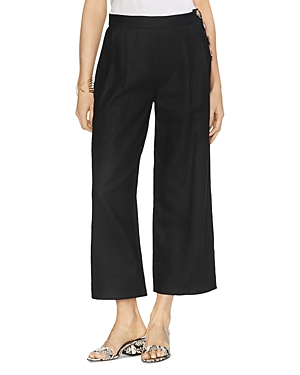 Vince Camuto Pants PLEATED CROPPED LINEN PANTS