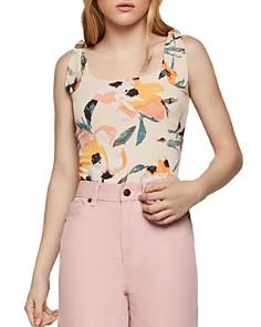 BCBGENERATION - Tie-Shoulder Floral Bodysuit