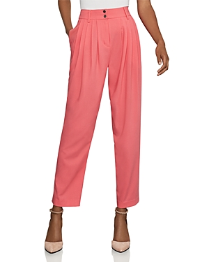 Bcbgmaxazria Pleated Tapered Ankle Pants