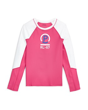 Ralph Lauren - Girls' Graphic Rash Guard Top - Big Kid